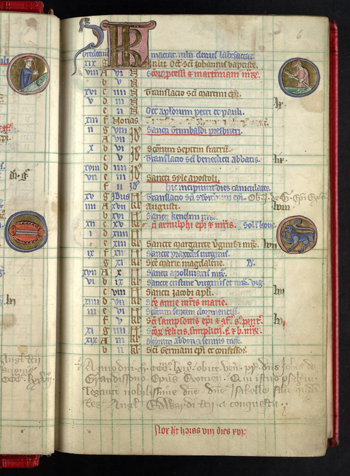 Records Of The Death Of Bishop John Grandisson, In 'The Grandisson Psalter'